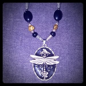 Beautiful Dragonfly Designer Gemstone Necklace